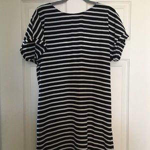 NWT Caslon Casual Black & White Striped Dress